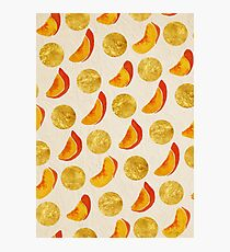 Gold Peaches Photographic Print