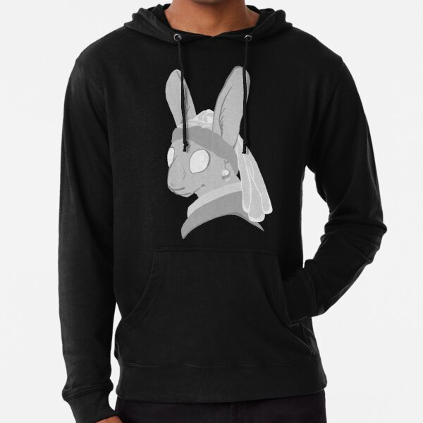 Bunny with a Pearl Earring Lightweight Hoodie