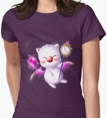 Time Traveling Moogle Women's Fitted T-Shirt