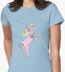 Princess DreamSplicer - the cyborg unicorn Womens Fitted T-Shirt
