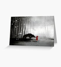 Little Red Riding Hood ~ The Fisrt Touch  Greeting Card
