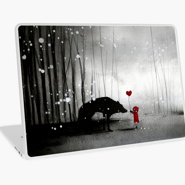 Little Red Riding Hood ~ I love You  Laptop Skin