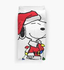 Merry Christmas Snoopy Duvet Cover
