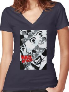 Hack Attack Women's Fitted V-Neck T-Shirt