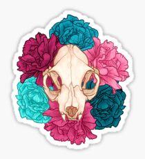 TWO Flower Skull Sticker