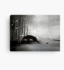 Little Red Riding Hood - A Tragedy  Canvas Print