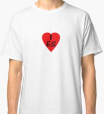 I Love Spain - Country Code ES T-Shirt & Sticker Classic T-Shirt