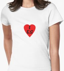 I Love Spain - Country Code ES T-Shirt & Sticker Womens Fitted T-Shirt