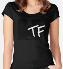 WTF Happened To Music Solid Women's Fitted Scoop T-Shirt