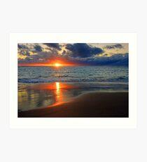 Sunset At Point Peron  Art Print