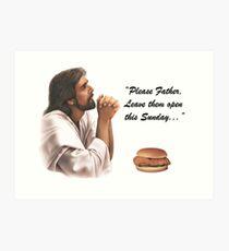 Jesus Chick-fil-a Art Print