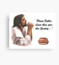 Jesus Chick-fil-a Canvas Print