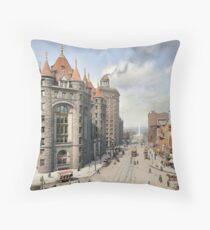 Niagara Street, Buffalo, 1908 Throw Pillow