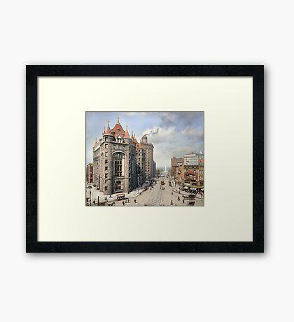 Niagara Street, Buffalo, 1908 Framed Print