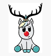 Reindeer (totally not a unicorn!) Photographic Print