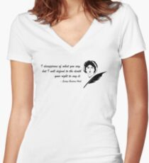 Evelyn Beatrice Hall quote Women's Fitted V-Neck T-Shirt
