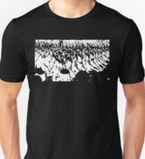 German Soldiers Marching Black Unisex T-Shirt
