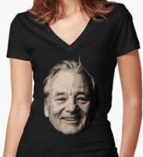 Bill Murray - Portrait Women's Fitted V-Neck T-Shirt