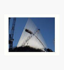 The New World Trade Center Transit Hub Oculus, Santiago Calatrava, Architect, wer Manhattan, New York City,  Art Print