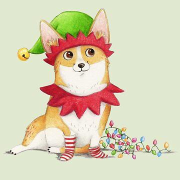 Christmas Corgi by SprawlingPuppy
