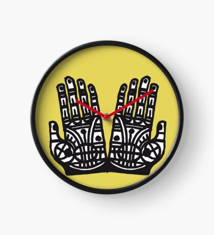 Beschützende Hände  Uhr