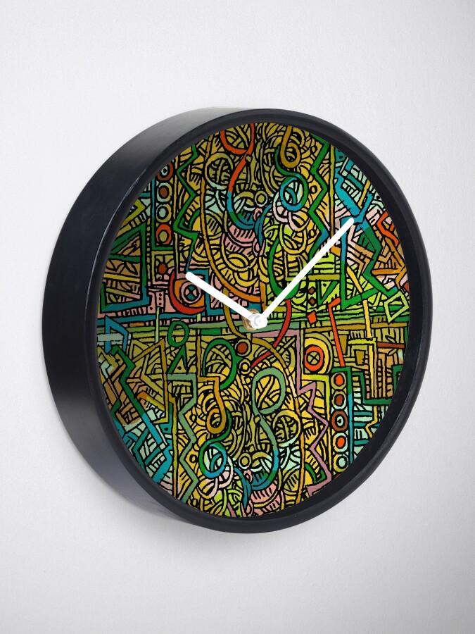 Alternative Ansicht von Psychedelic Time Uhr