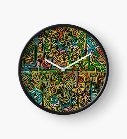 Psychedelic Time Uhr