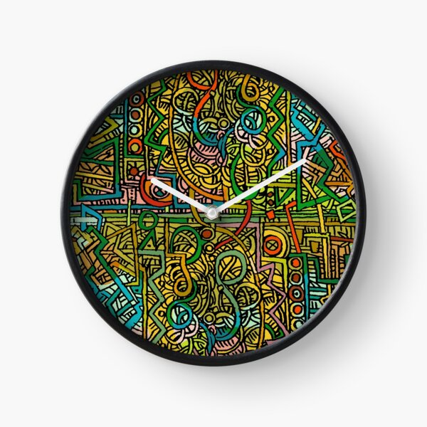 Psychedelic Time Clock