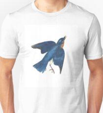 Blue Bird - John James Audubon T-Shirt