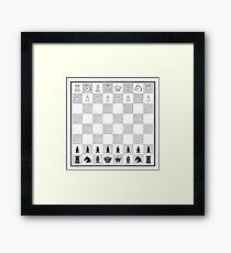 Victorian Chess Board Framed Print