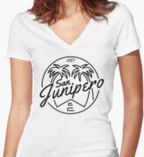 Black Mirror San Junipero Light Women's Fitted V-Neck T-Shirt