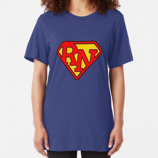 Super Nurse RN Symbol Slim Fit T-Shirt