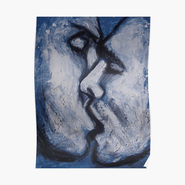 Lovers - Kiss In Blue  Poster