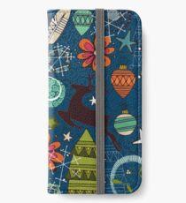 joyous jumble indigo iPhone Wallet/Case/Skin
