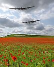 The Two Lancasters - We Remember Them ! by Colin  Williams Photography