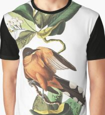 Mangrove Cuckoo - John James Audubon Graphic T-Shirt