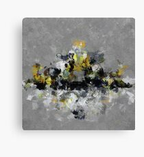 Cityscape Abstract Painting Canvas Print