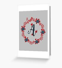 Scandinavian Monogram A Greeting Card