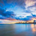 Carrer La Mar at sunset by Ralph Goldsmith