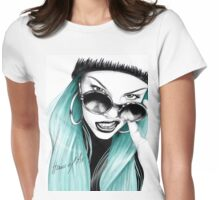 Turquoise Jessie J Womens Fitted T-Shirt
