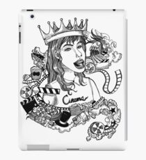 Girl with elements of the film in the illustration iPad Case/Skin