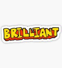 brilliant cartoon word Sticker