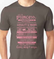 I Am a Princess (version 2) Unisex T-Shirt