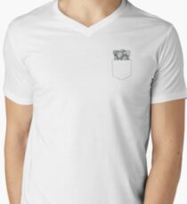 Wear your heart on your sleeve Men's V-Neck T-Shirt