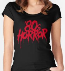 '80s Horror Women's Fitted Scoop T-Shirt