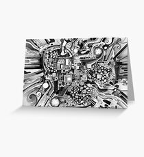 Distortion Sympathy - Watercolor Painting B&W Greeting Card