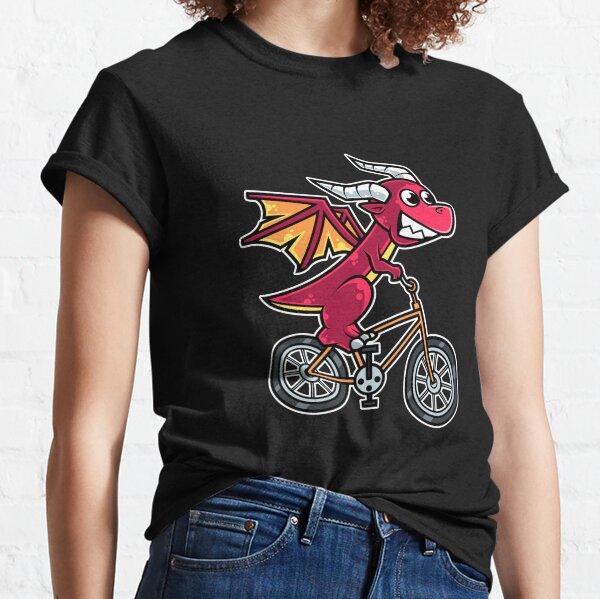 Dragon Bicycle Cyclist Cycling graphic Classic T-Shirt