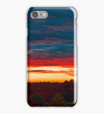 Sunset in the mountains of Sullivan County iPhone Case/Skin