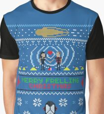 Merry Frelling Christmas Ugly sweater Graphic T-Shirt