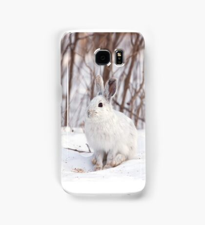 Snowshoe hare (Lepus americanus) in winter Samsung Galaxy Case/Skin